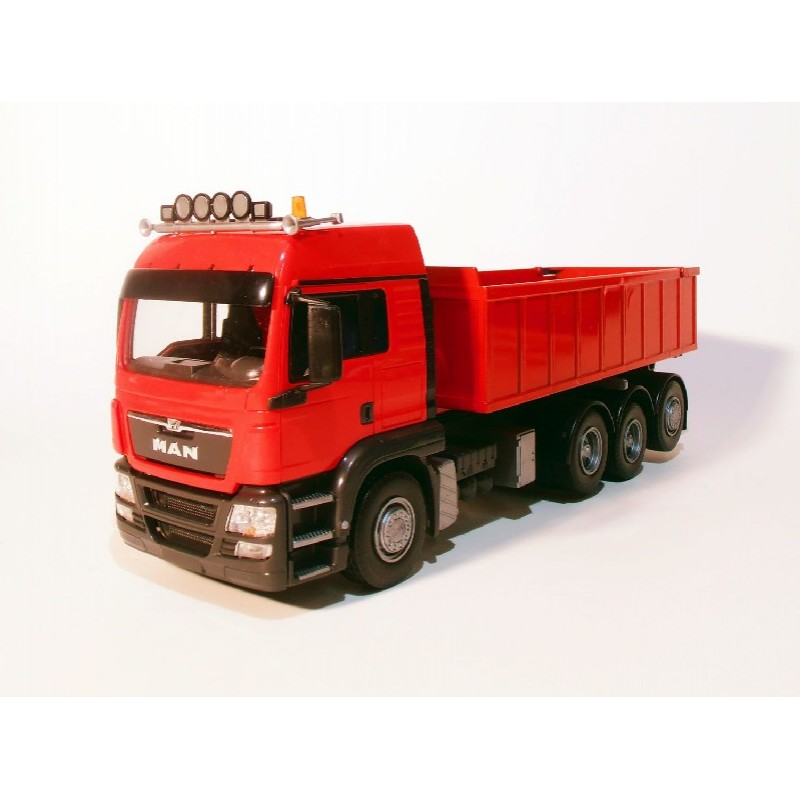 Emek MAN TGS 8x4 met Afzetcontainer klein - Rood