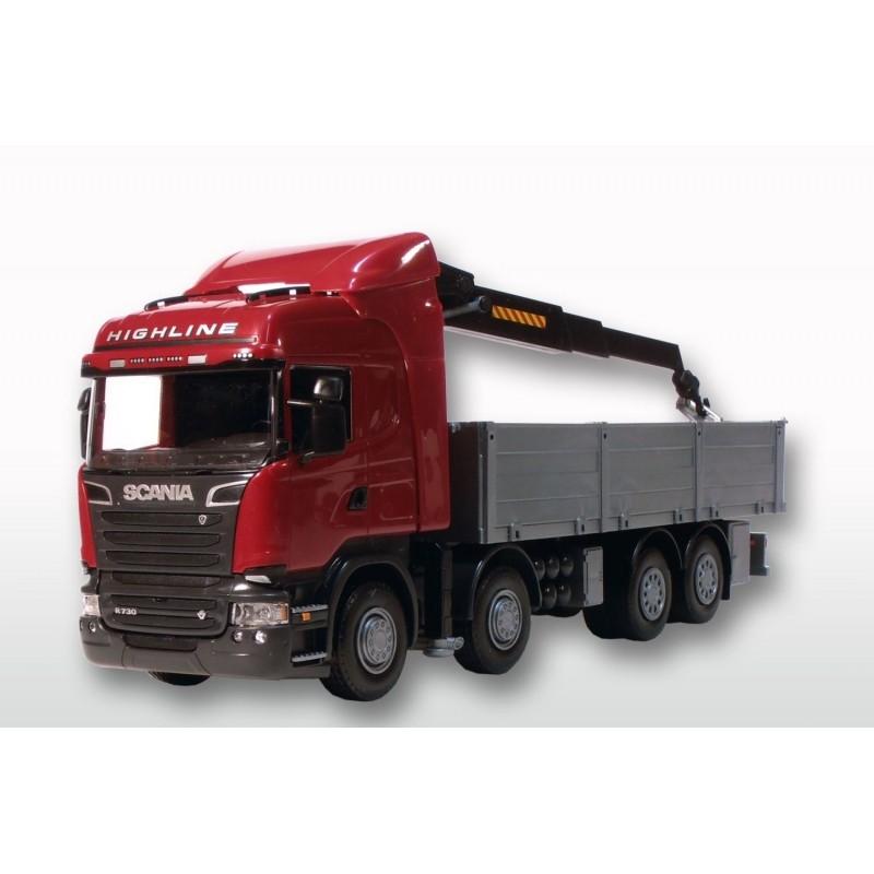 Emek Scania R Highline met Bouwmaterialenopbouw 4-asser Rood - EM50505