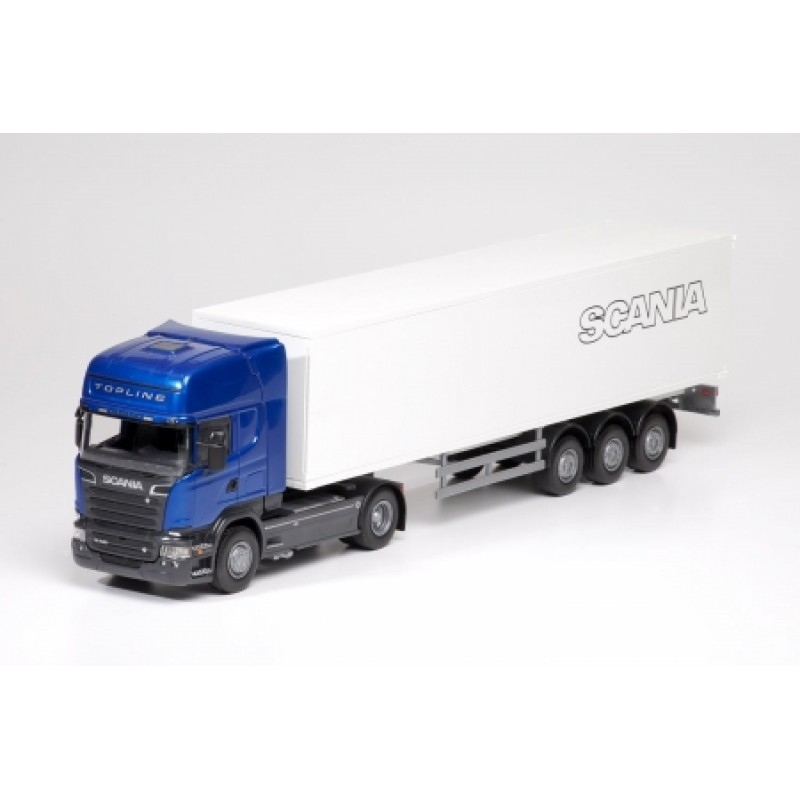 Emek Scania R Blauw met Geslotenoplegger blauw - EM85004