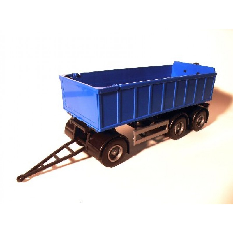 Emek Aanhanger 3-As met afrolcontainer klein - Blauw - EM89004/1
