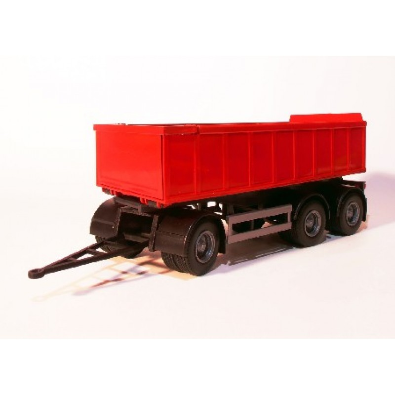 Emek Aanhanger 3-As met afrolcontainer klein - Rood - EM89005/1
